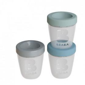 BEABA Set repas 3 portions en silicone - Spring