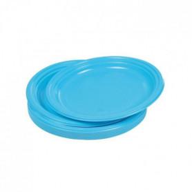 Lot de 20 assiettes plates jetables diametre 22 cm bleu