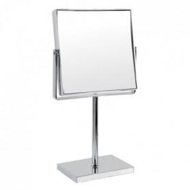 GERSON Miroir sur pied grossissant - Chromé - 15,5x15,5 cm