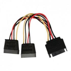 NEDIS Internal Power Cable - SATA 15-pin Male - 2x SATA
