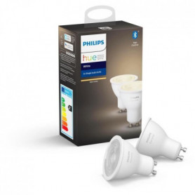 PHILIPS HUE Pack de 2 ampoules White - 5,5 W - GU10 - Bluetooth