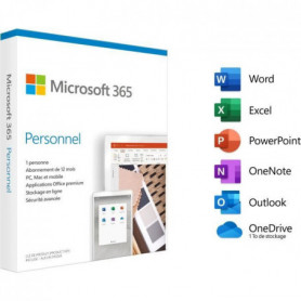 Microsoft 365 Personnel - Abonnement 1 an