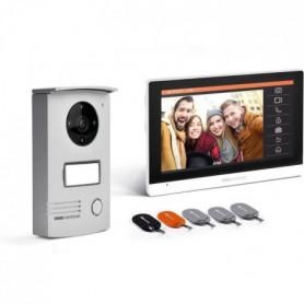 Interphone vidéo filaire avec badges Ecran tactile 7