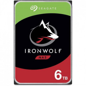 SEAGATE - Disque dur Interne - NAS Iron Wolf - 6To - 5 400 trs