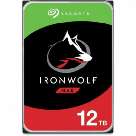 SEAGATE - Disque dur Interne - NAS IronWolf - 12To - 7200trs