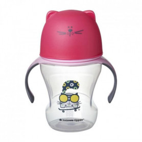 TOMMEE TIPPEE Tasse de transition 230 ml déco rose