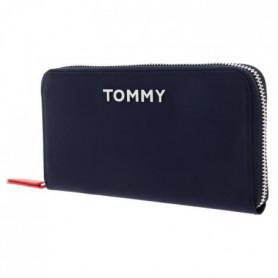 TOMMY HILFIGER Portefeuille AW0AW077380GY - Bleu - Femme