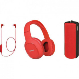 TOSHIBA - Pack Audio Sans fil 3 en 1 - HSP-3P19S - Rouge