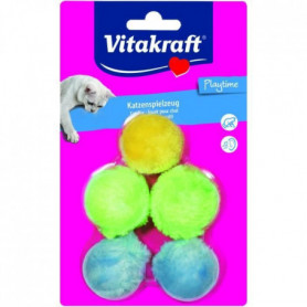 VITAKRAFT For You Balles peluches - Chat - x 5
