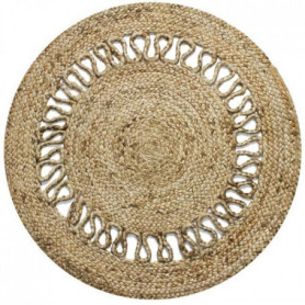 Tapis Funny - Ø 70 cm - Vague naturel