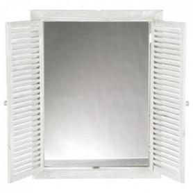 Miroir à volets - 50 x 65 cm - Blanc
