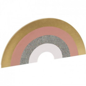 Applique arc en ciel avec timer - H. 15 cm - Multicolore