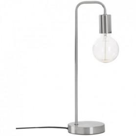 Lampe en métal - E27 - 40 W - H. 45 cm - Argent