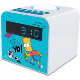 SIMPSON-477443-Radio-réveil Bart FM veilleuse double alarme