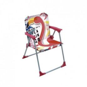 Chaise pliante Flamant Rose Pour Enfant - Montée38x32x53 cm