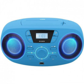 BIGBEN CD61BLUSB Lecteur Radio Cd Portable Usb Bleu