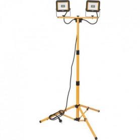 Brennenstuhl 2 Projecteurs LED JARO - avec trépied - 2x 1870 lumen