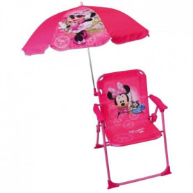 Fun House Disney Minnie chaise pliable avec parasol pour enfant
