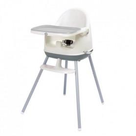 DBB REMOND Chaise haute 3 en 1 - blanc/gris
