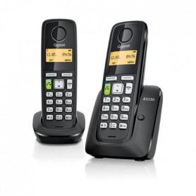 GIGASET Téléphone Fixe AS350 DUO Noir