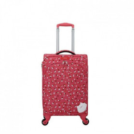 Valise cabine polyester ARUM-E rose