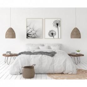 Parure 100% lin 220x300 cm + 1 drap housse 140 x 190 cm - Blanc