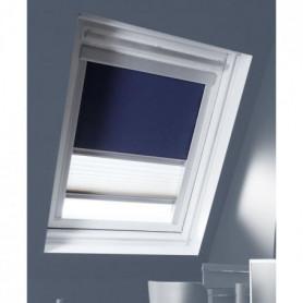 MADECO store enrouleur de toit double plisse occultant bleu