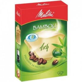 MELITTA 80 filtres à café Bambou 1x4