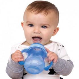 NUBY Biberon d'apprentissage avec bec anti-goutte - Bleu