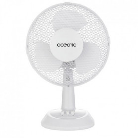 OCEANIC Ventilateur de table - 25 watts - Diametre 23 cm