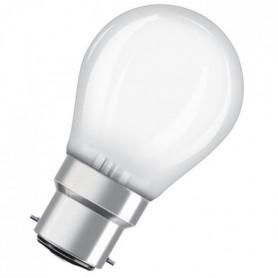 OSRAM Ampoule LED B22 sphérique dépolie 4,5 W