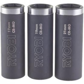 RYOBI RAKPISOC3 - Blister de 3 Douilles 1/2''