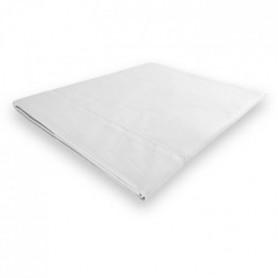 SOLEIL d'OCRE Drap plat Camille - 180 x 290 cm - Blanc