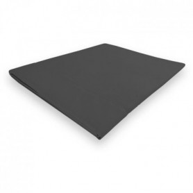 SOLEIL d'OCRE Drap plat Camille - 180 x 290 cm - Gris anthracite
