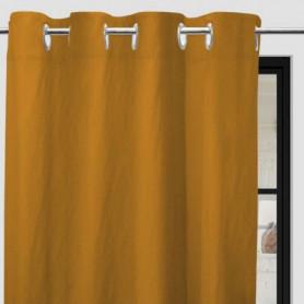 SOLEIL d'OCRE Rideau a oeillets Boheme - 135 x 250 cm - Jaune