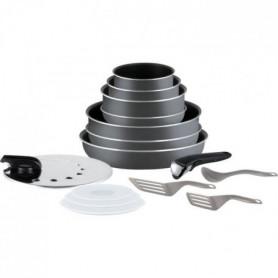 TEFAL L2048802 Batterie de cuisine 15 pieces INGENIO MINUTE
