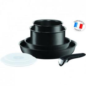 Ingenio Performance Noir Batterie de cuisine 7 Pieces Tous Feux