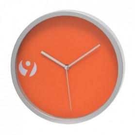 TICTIME Horloge murale ronde Orange - 20x3,5xH20 cm