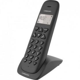 LOGICOM Téléphone sans fil VEGA 150 SOLO Noir sans répondeur