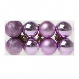 Boules de Noël Christmas Planet 6721 4 cm (16 uds) Violet