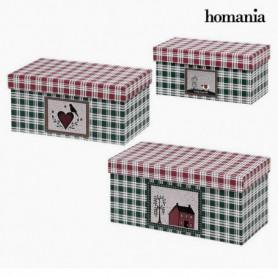Boîte Décorative Homania 7772 (3 uds) Carton