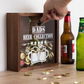 Boîte décorative pour bouchons Beer Collection