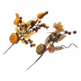 Fleur décorative Autum Jaune Marron 110039