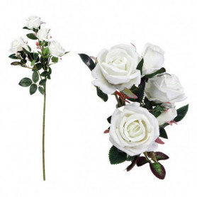 Branche de 5 roses 113021 Blanc (60 Cm)