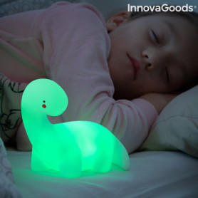 Lampe LED multicolore Dinosaure Lightosaurus InnovaGoods