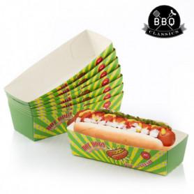 Ensemble de boîtes pour Hot-Dogs BBQ Classics (Pack de 8)