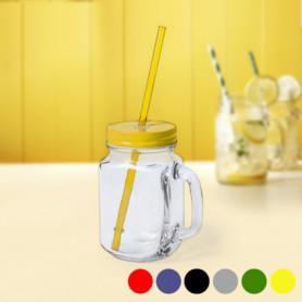 Carafe avec Couvercle et Paille (500 ml) 145494