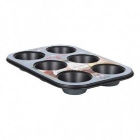 Moules à Muffins Quttin Ross (6 Rations) (26,5 x 18,5 x 3 cm)