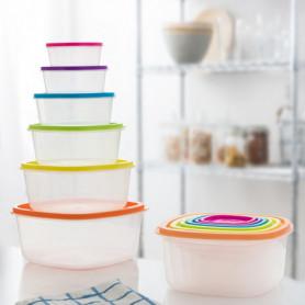 Ensemble de 6 Boîtes à Lunch Colors Eh