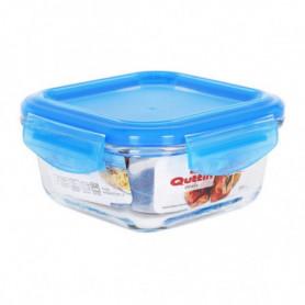 Boîte à lunch hermétique Quttin Carré Verre Bleu